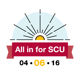 All in for SCU Logo