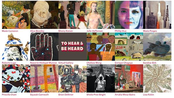 To Hear and Be Heard art exhibit