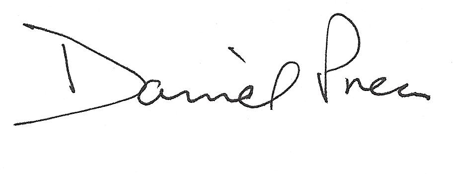 Daniel Press Signature, Black Ink
