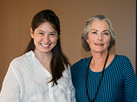 Emma Chen with Nancy Unger