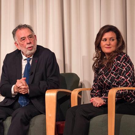Francis Ford Coppola and Evelyn Ferraro