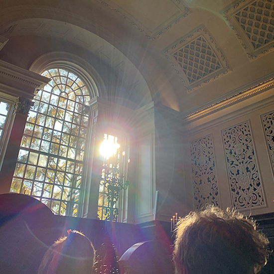 Nick Spragg in Harvard memorial church